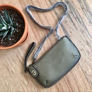 NWOT Vegan Leather Clutch